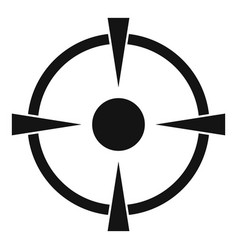 Reticle target icon simple style vector