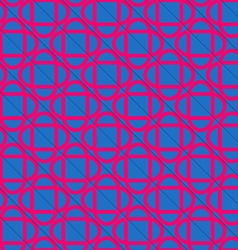 Retro 3D blue and pink diagonally cut intersecting vector image