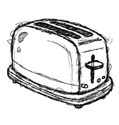 scribble series - toaster vector image