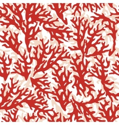 Seamless pattern with red coral good for textile vector