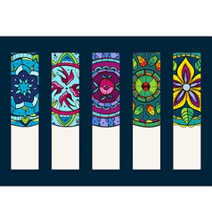 Set 1 of banners with hand drawn mandalas vector image vector image