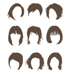 Silhouettes of hair styling vector
