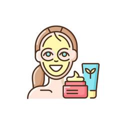 Skin care treatment rgb color icon vector
