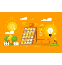 Solar battery design concept vector