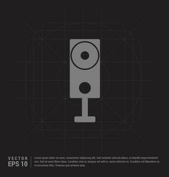 speaker icon - black creative background vector image