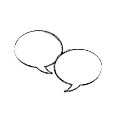 Speech bubble message chat dialog conversation vector