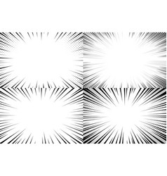speed lines background comic action strips vector image