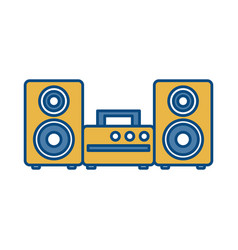 Stereo device icon vector