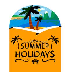 Summer beach background summer holidays vector
