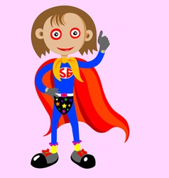 supergirl with thumbs up vector image vector image