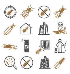 termites desinfector pest control service bold vector image