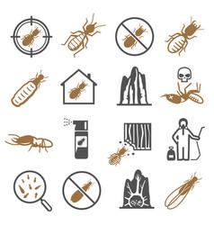 Termites desinfector pest control service bold vector
