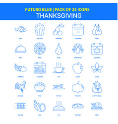 Thanksgiving icons - futuro blue 25 icon pack vector