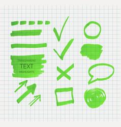 transparent highlighter marks vector image