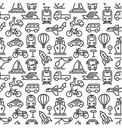 Transport seamless pattern vector