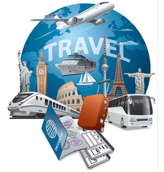 traveling and cruising vector image