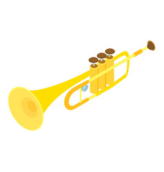 trumpet icon isometric style vector image