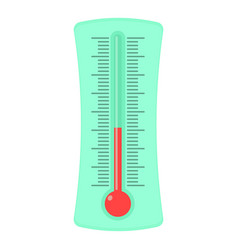 Weather thermometer icon cartoon style vector