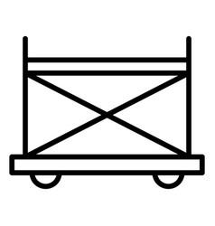 Wheel scaffold icon outline style vector