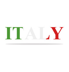 word italy vector image