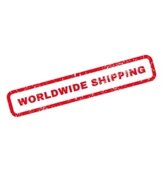 Worldwide Shipping Rubber Stamp vector image
