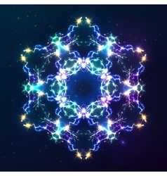 Abstract cosmic fractal snowflake vector image vector image
