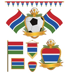 gambia flags vector image vector image