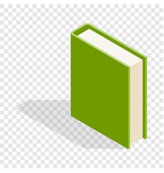 green book isometric icon vector image