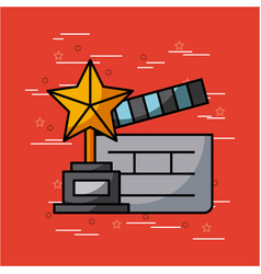 movies and cinema concept vector image vector image