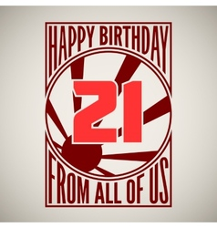 Retro poster Happy birthday vector image vector image