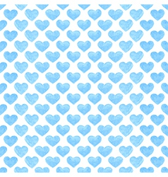 Watercolor romantic seamless pattern with hearts vector image