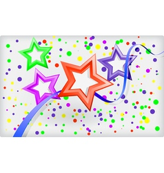 Abstract holiday background with stars and vector image