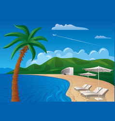Beach resort journey vector