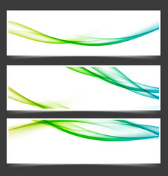 colorful fresh spring line card layout collection vector image vector image