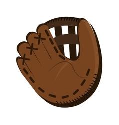 dark brown baseball glove graphic vector image vector image