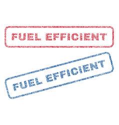 Fuel efficient textile stamps vector