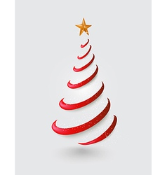 Merry Christmas abstract red tree greeting card vector image vector image