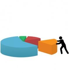 pie graph vector image vector image