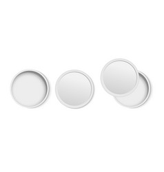 white round open empty box top view vector image vector image
