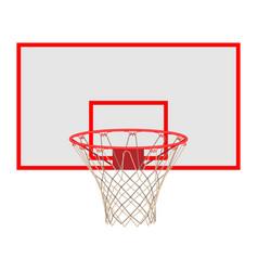 basketball hoop on backboard isolated on white vector image