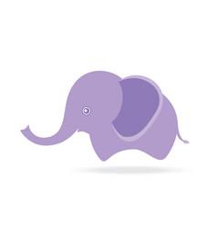 cute female elephant cartoon drawing thailand vector image