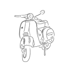 Outline of scooter vector image