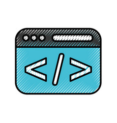 template web programming language vector image