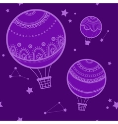 Background with hot air balloons vector image vector image