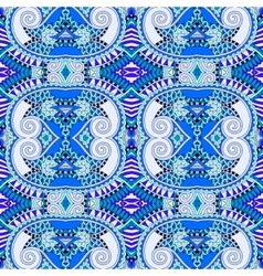 blue authentic seamless geometry vintage pattern vector image