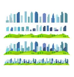 parallax effect ready city future building vector image