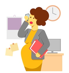 pregnant woman working vector image