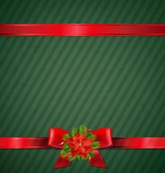 Retro Green Christmas Wallpaper vector image