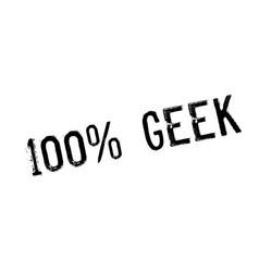 100 geek rubber stamp vector