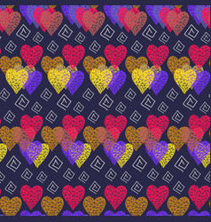 abstract hearts pattern vector image